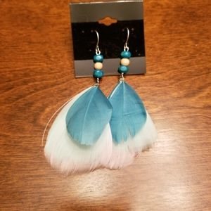 Jewelry - Brand New Feather Earrings